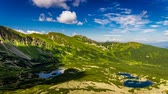 skály : View from Karb to Kasprowy Wierch and Gasienicowa valley in summer, Tatra Mountains, Poland