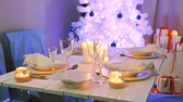 noruega : Beautifully preparations for Christmas Eve Stock Footage