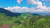 funicular : Travel by cable car from Kasprowy Wierch in Tatra mountain, Poland