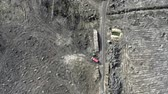 Deforestation, logging, environmental destruction. Aerial view from drone Stock Footage