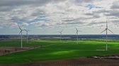 rostlina : Flying above wind turbines as alternative energy, Poland