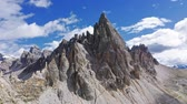 tirol : Monte Paterno in Dolomites in sunny day, aerial view