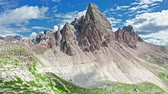 Aerial view of Monte Paterno in Dolomites, Italy