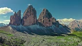 majestoso : Wonderful aerial view to Tre Cime in Italian Dolomites