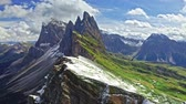 Seceda in South Tyrol, Dolomites, Italy, view from above
