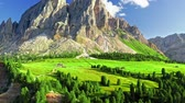 Majestic Passo delle Erbe in Dolomites, view from above