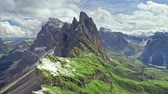 Seceda in South Tyrol, Dolomites from above, Italy