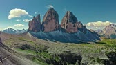 majestoso : Aerial view to Tre Cime in Italian Dolomites, Europe