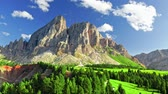grasland : Aerial view of Passo delle Erbe in Dolomites, Italy