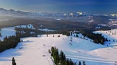Aerial view of sunrise in Tatra mountains at winter Vidéos Libres De Droits