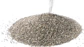 tohumlar : Raw whole chia seeds pouring out of cup on white background
