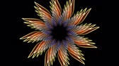 abstrakcja : Fractal groowing flower on dark background with rotating element. Mysterious object in mandala style. Wideo
