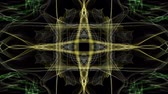 nekonečný : Abstract fractal anmation, yellow patterns in the shape of a cross, tunnel loop motion, nice video decoration Dostupné videozáznamy