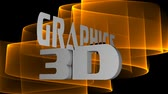 3d graphics advertising inscription, 3d white letters moving on blurry background, fiery curves on black