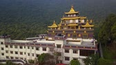 manevi : Tibetan Monastery, Kathmandu valley, Nepal - October 17, 2017 Stok Video