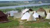 sivil : Colonization of the wild west of america. Camp on the river bank