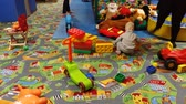 the game : Children play in the playroom in the kindergarten, In Kiev, Ukraine, 11.25.2017