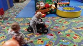 教育 : Children play in the playroom in the kindergarten, In Kiev, Ukraine, 11.25.2017