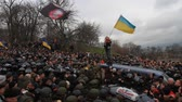 forradalom : Ukraine. Kiev. December 5, 2017. people rebel against power. Collisions of people with the police. Protest against the detention of Saakashvili.