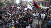 subay : Ukraine. Kiev. December 5, 2017. people rebel against power. Collisions of people with the police. Protest against the detention of Saakashvili.