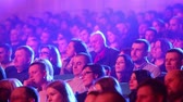 kino : Kiev, March 13, 2018, Ukraine. Spectators in the hall watch a concert in one of the concert halls of Kiev
