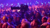 Kiev, March 13, 2018, Ukraine. The cameraman records a concert. Stock Footage