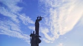 polar regions : Monument of the Great Patriotic War in Russia against a blue sky with clouds
