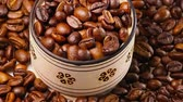 flavour : Roasting Coffee Beans Stock Footage