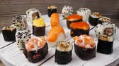 chop sticks : Plate of Sushi