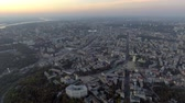 radical : Kiev. Ukraine. Aerial view. Kyiv Stock Footage