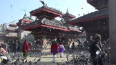 uctívání : Kathmandu, Nepal - November 21, 2017: View of Durbar square in Bhaktapur Nepal in the Kathmandu Valley, Asia Dostupné videozáznamy
