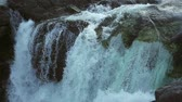 north stream : Video of Manafossen waterfall in Norway. Stock Footage