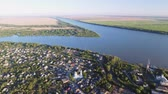 danube delta : The city of Vilkovo, Odessa region, Ukraine, Aerial view at summer time.