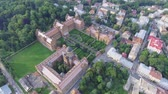 キャンパス : The Residency of the Chernivtsi National University. Seminary Church of the Three Saints. Seminar building. Aerial