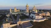 hristiyan : Aerial view of Holy Dormition Pochayiv Lavra, an Orthodox monastery in Ternopil Oblast of Ukraine. Eastern Europe