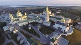 hospice : Aerial view of Holy Dormition Pochayiv Lavra, an Orthodox monastery in Ternopil Oblast of Ukraine. Eastern Europe