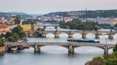 charles bridge : Summer timelapse of Prague, Czech Republic.