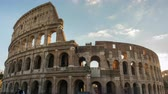 The Colosseum or Coliseum timelapse, Flavian Amphitheatre in Rome, Italy Vídeos