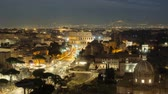 imperador : Nighttime timelapse of the Colosseum and street traffic, Italy