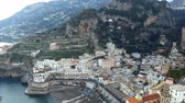 neapol : Aerial View of Amalfi in Amalfi Coast, Italy
