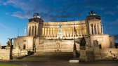 Vittorio Emanuele II Monument aka Altare della Patria as night falls in Rome