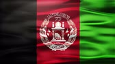 afghanistan : Afghanistan Realistic Seamless Loop Flag of Afghanistan Waving In The Wind With Highly Detailed Fabric Texture.
