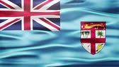 ilustrado : Realistic Seamless Loop Flag of Fiji Waving In The Wind With Highly Detailed Fabric Texture