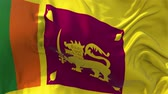 democrat : Sri Lanka Flag in Slow Motion Smooth blowing in wind seamless loop Background