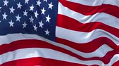 democrat : US Flag in Slow Motion Smooth blowing in wind seamless loop Background Stock Footage