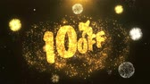 rebate : 10% off Greeting Card text Reveal from Golden Firework & Crackers on Glitter Shiny Magic Particles Sparks Night for Celebration, Wishes, Events, Message, holiday, festival
