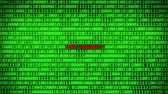 fingerprint : Wall of Green Binary Code Revealing DATE SECURITY Word Between Random Binary Data Matrix Background
