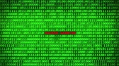 betörő : Wall of Green Binary Code Revealing HACKER WARNING Word Between Random Binary Data Matrix Background