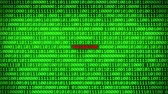 fingerprint : Wall of Green Binary Code Revealing Phishing Word Between Random Binary Data Matrix Background Stock Footage