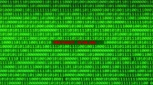 fingerprint : Wall of Green Binary Code Revealing PRIVACY VIOLATED Word Between Random Binary Data Matrix Background Stock Footage